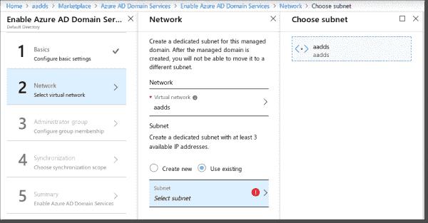 Create the AADDS network