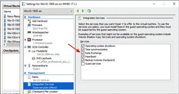The data exchange integration service must be active for older versions of Windows