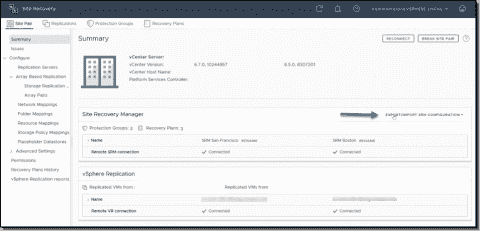 VMware Site Recovery Manager (SRM) 8.2 new features