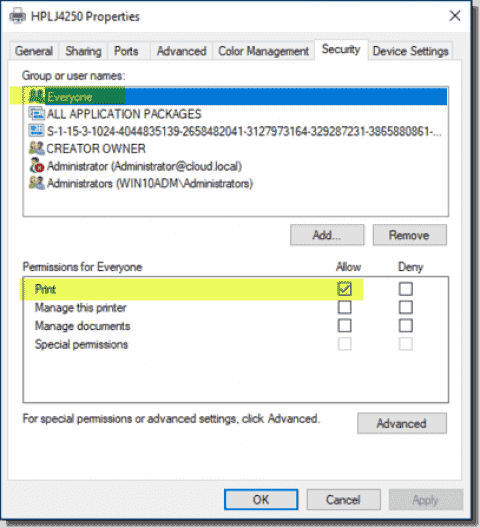 Manage printer permissions with PowerShell