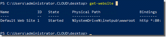 Viewing IIS websites and bindings with PowerShell