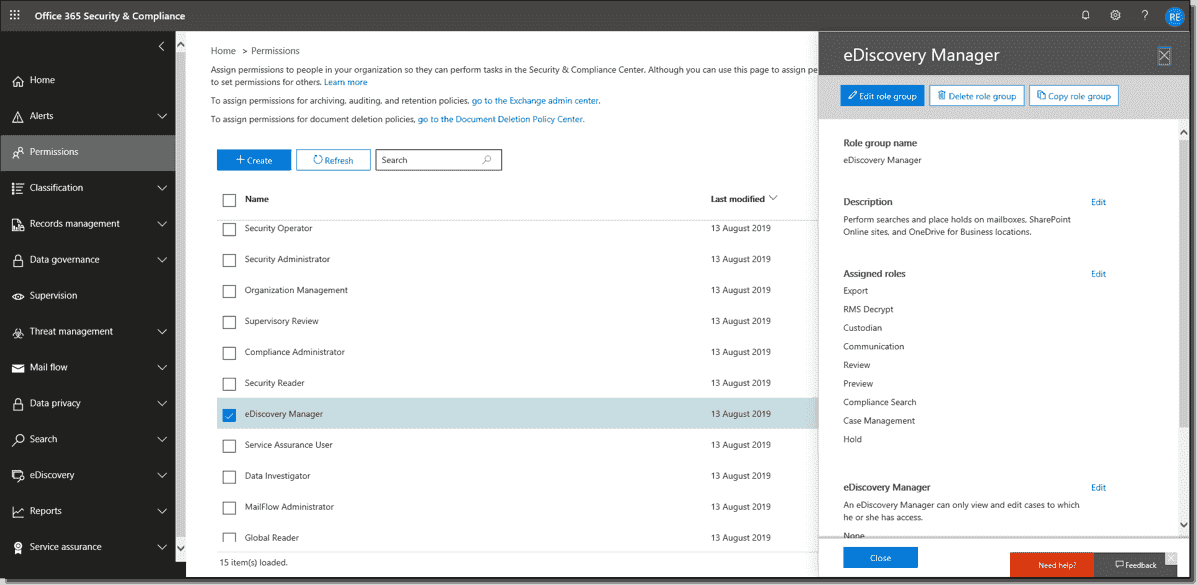 Export mailboxes from Office 365 to .pst files