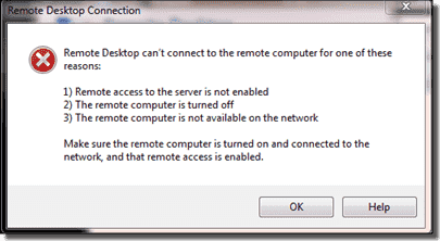 Remote Desktop can't connect to the remote computer: Reasons and solutions