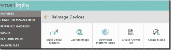 SmartDeploy's five step imaging process