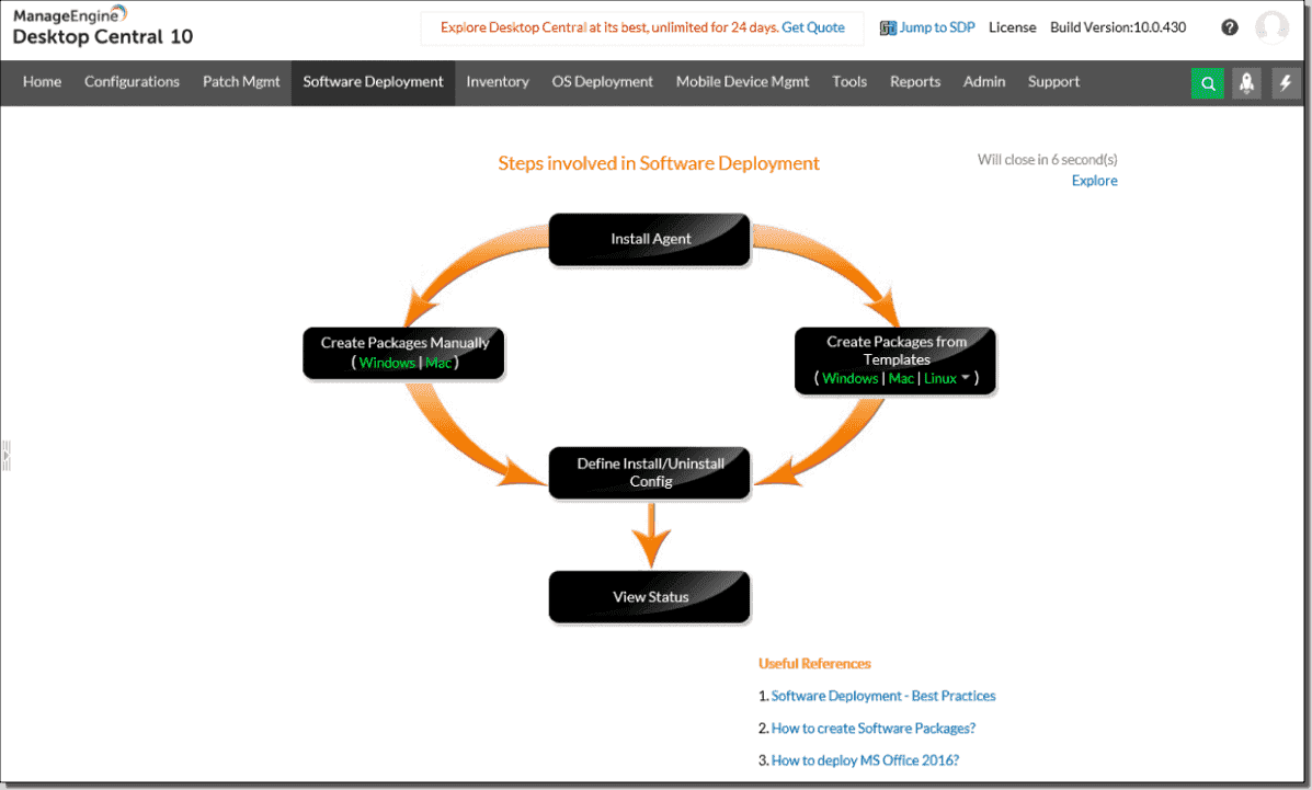 ManageEngine Desktop Central: Unified endpoint management for Windows, Linux, and Mac