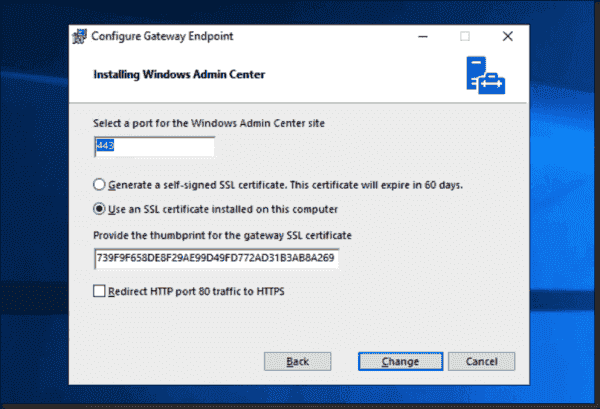 When you install WAC, you can specify your own certificate