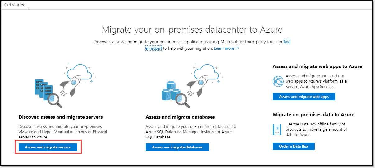 Azure Migrate Getting Started
