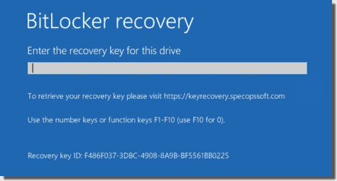 BitLocker customizable message