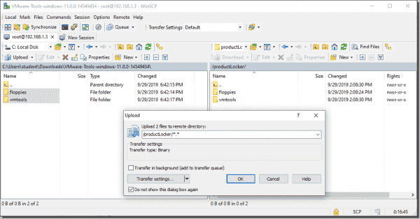 Copy and replace older versions of VM Tools