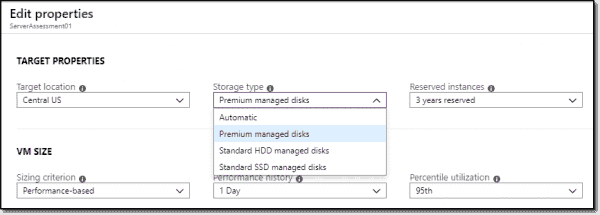 Edit storage type