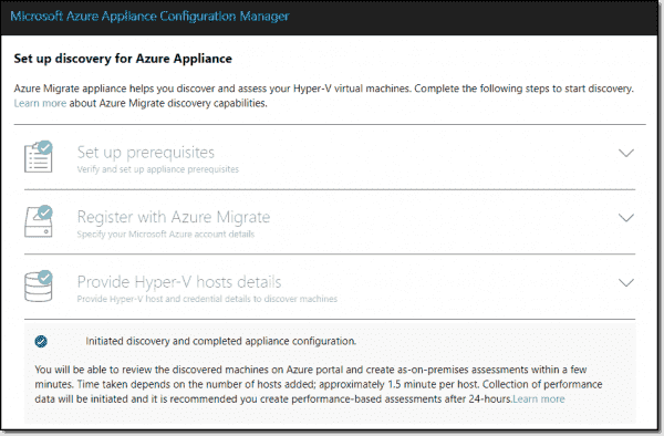 Initiate discovery and configure appliance