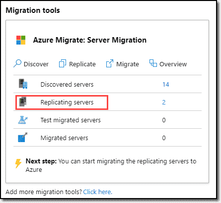 Migration tools replicating servers