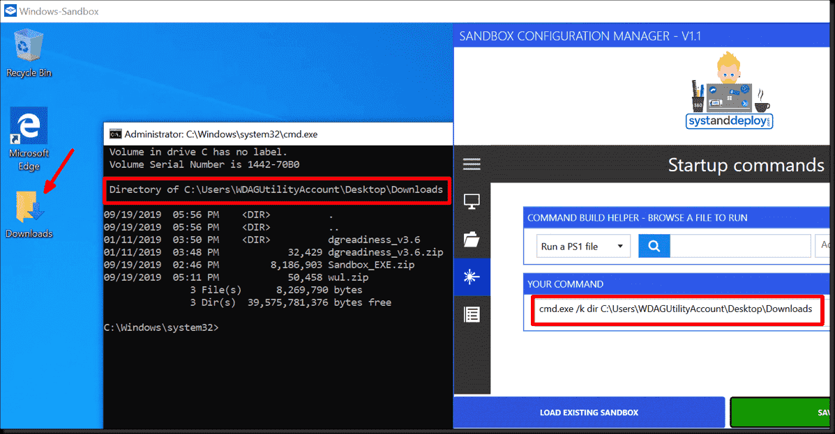 Configuring Windows Sandbox (network, mapped folders, and startup scripts) using a free GUI tool