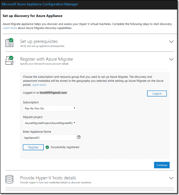 Register with Azure Migrate