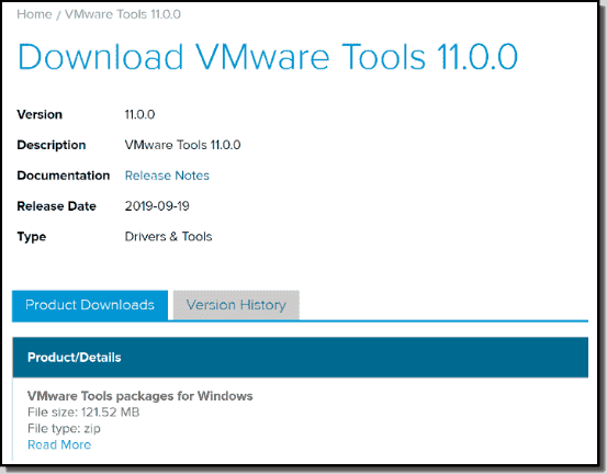 VMware Tools 11 download