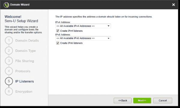 Configure IP listeners