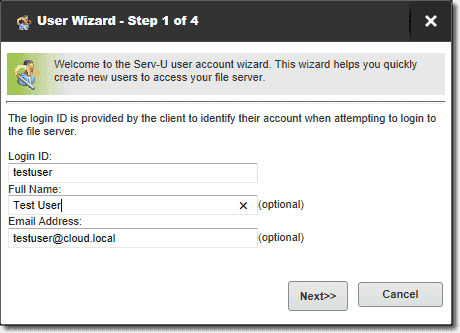 Create a login ID and email address