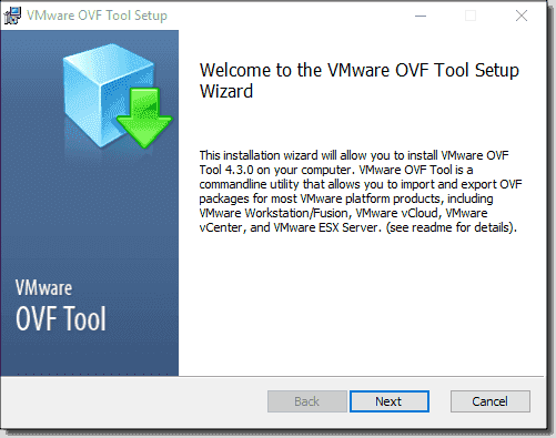 Install VMware OVF Tool on Windows