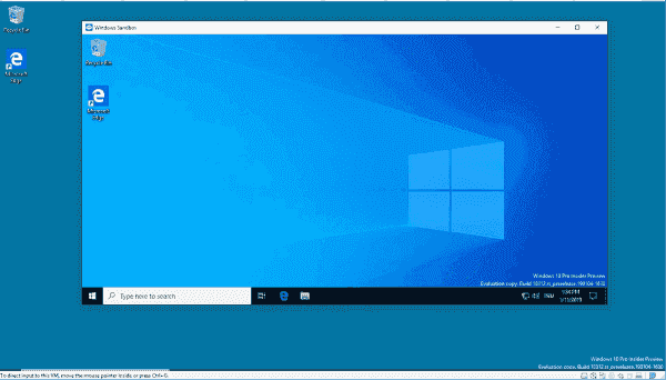 The Windows Sandbox can now supposedly run a different version of Windows 10 than the host