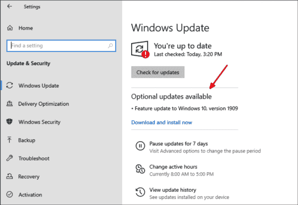 To update from Windows 10 1903 to 1909, Microsoft only requires the Enablement Package (KB4517245).