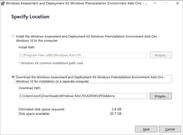 Windows 10 1909 does not get its own ADK; clients can boot when installing WinPE 1903
