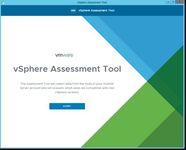 vSphere Assessment Tool desktop client