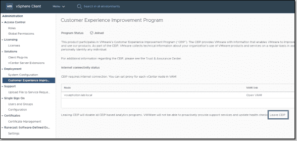 Change settings for the Customer Experience Improvement Program