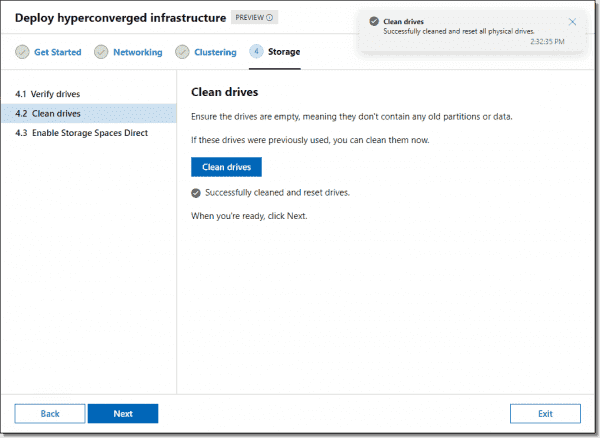 Cleaning drives and enabling Storage Spaces Direct