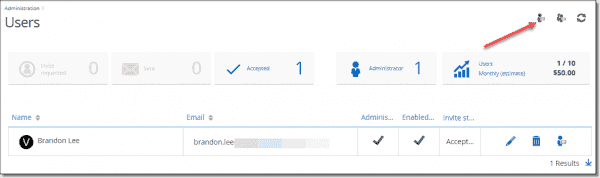 Adding a new user under Password Hub's administration area