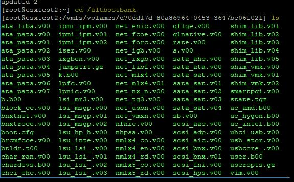 Roll back and downgrade VMware ESXi version