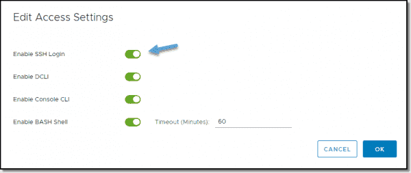 Click to enable SSH access