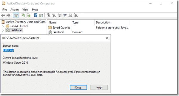 Domain functional level