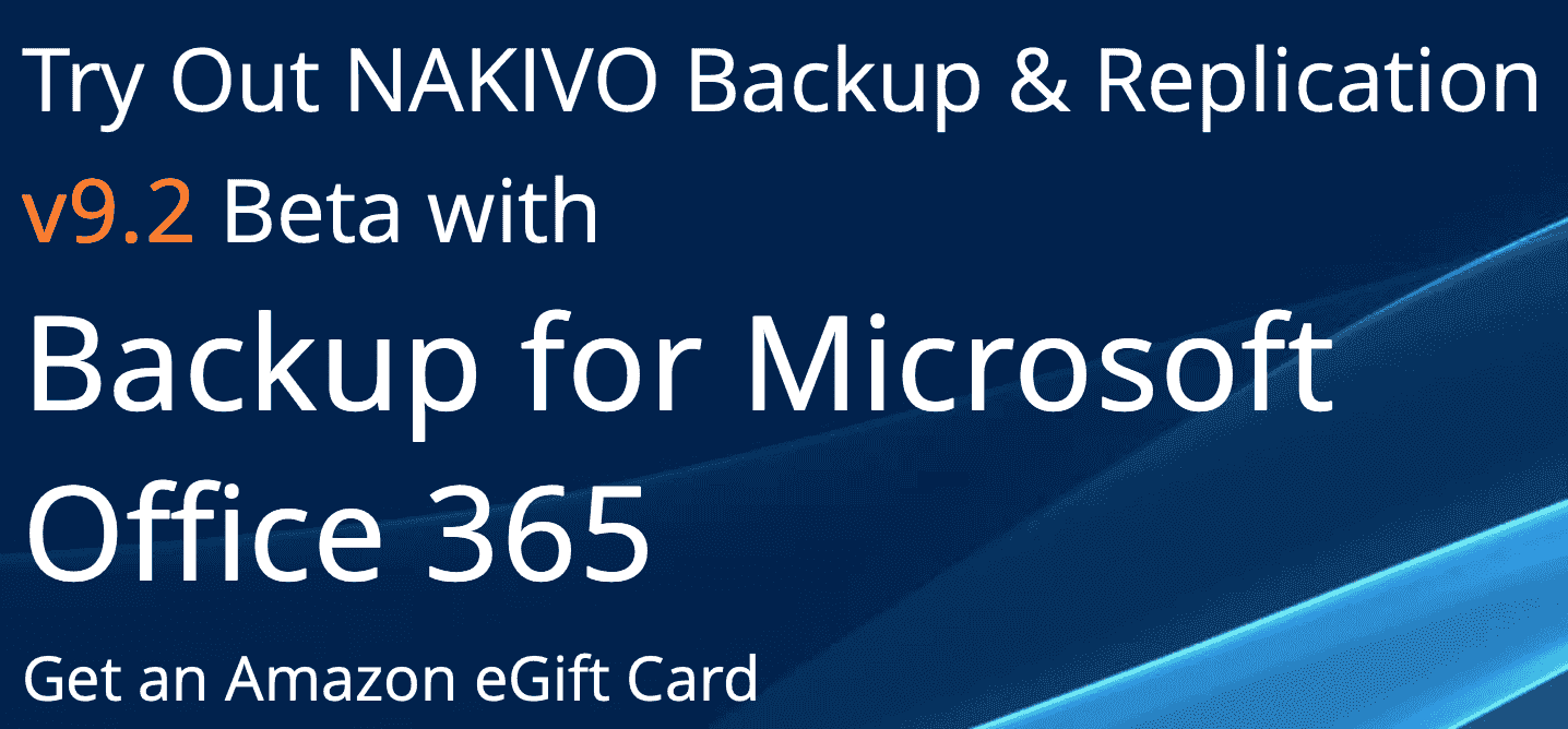 Sign up for NAKIVO Backup & Replication v9.2 Beta Program