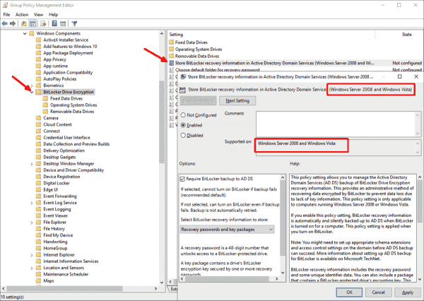 This setting only works for computers running Vista or Windows Server 2008