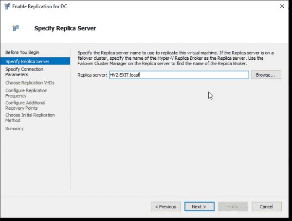 Specify Replica Server