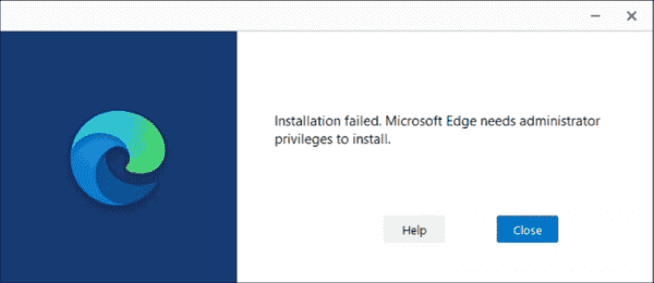 Standard users can no longer install the new Edge into their user profiles