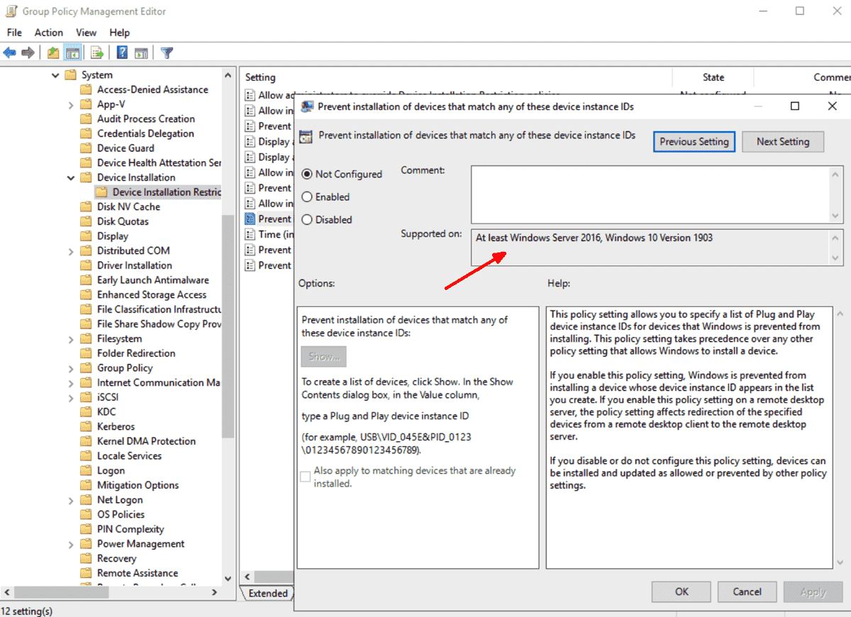 Group Policy settings reference for Windows 10 1909