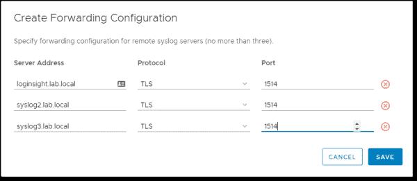 Configure forwarding