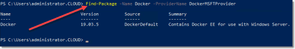 Finding the latest version of Docker available for installation