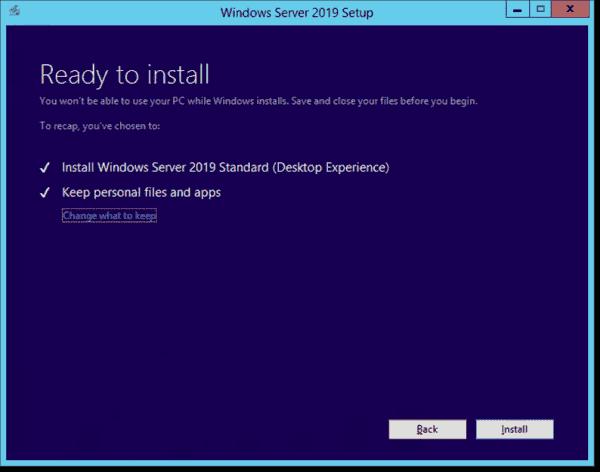 Ready to upgrade to Windows Server 2019