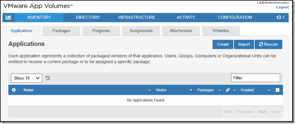 VMware AppVolumes 4