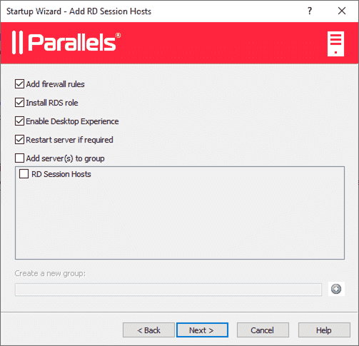 Automatically configuring your RDSH server in Parallels