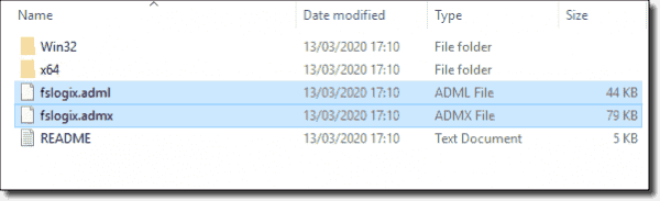 Copying the FSLogix Group Policy files