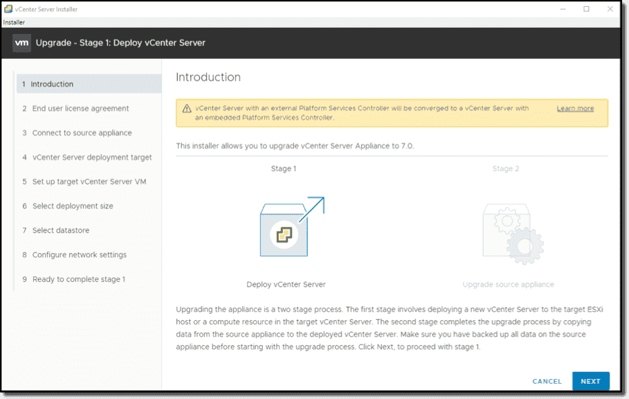 How to upgrade to vSphere 7/vCenter Server 7