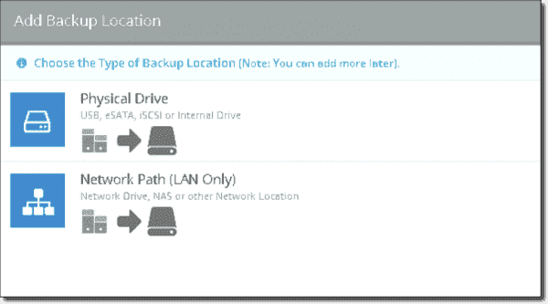 Picking a backup location