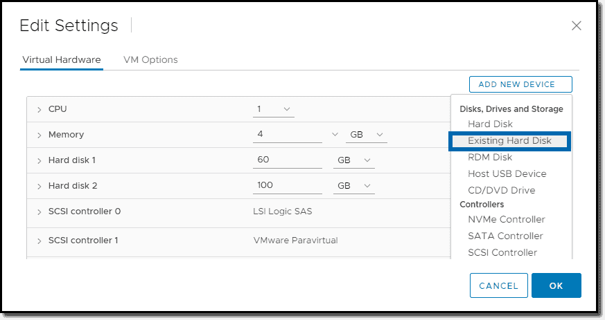VMware vSphere 7 Clustered VMDK