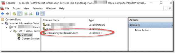 Adding alias domains in the SMTP server configuration