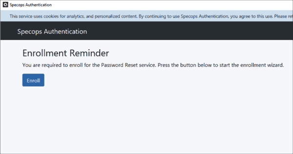 Automatic enrollment reminder at the start of the web browser