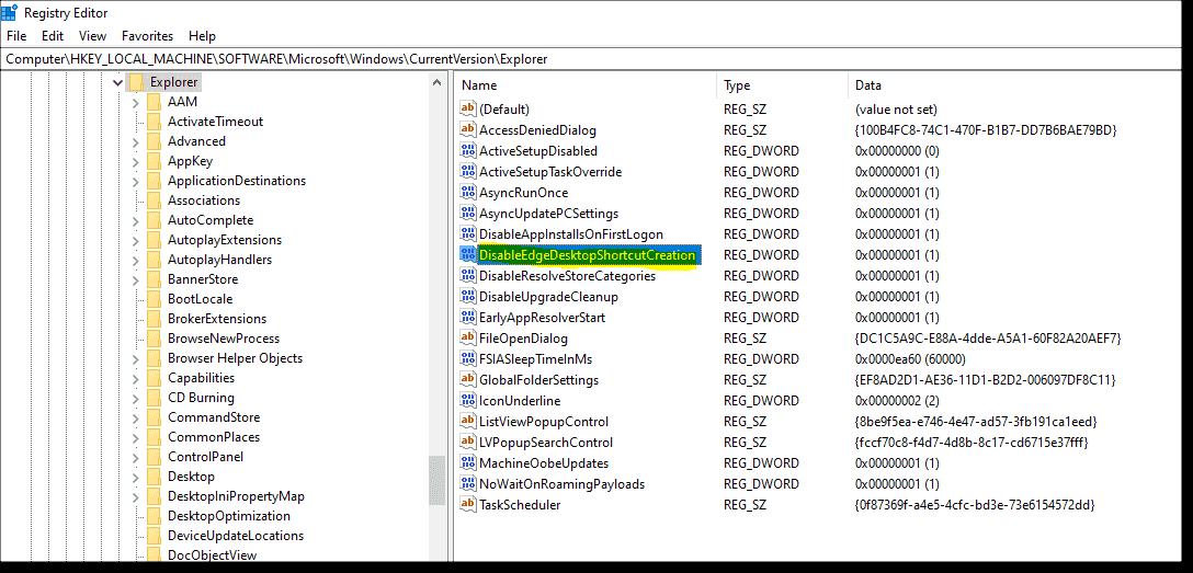 Avoid duplicate Edge shortcuts