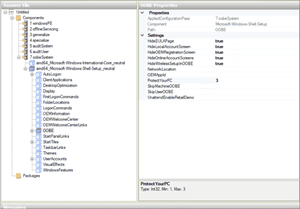 Bypassing unwanted setup dialogs and privacy settings